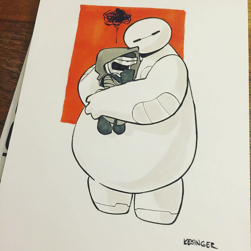 Baymax With His Hugs