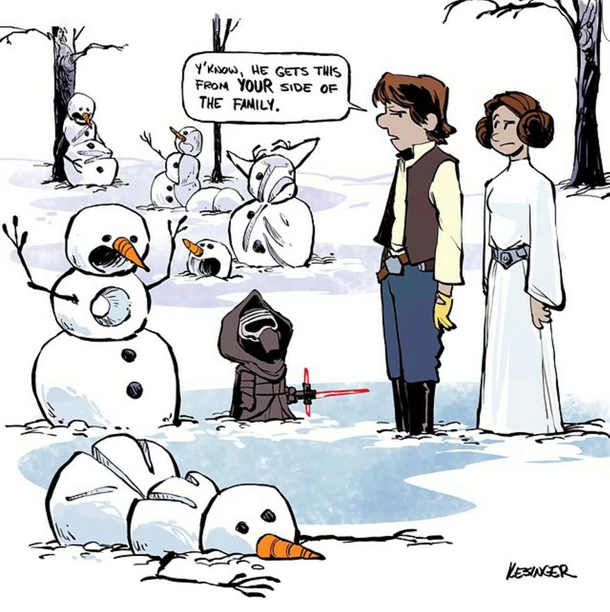 Blame it on Leia