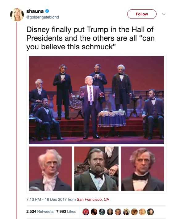 None of the Other Presidents Seem Too Thrilled