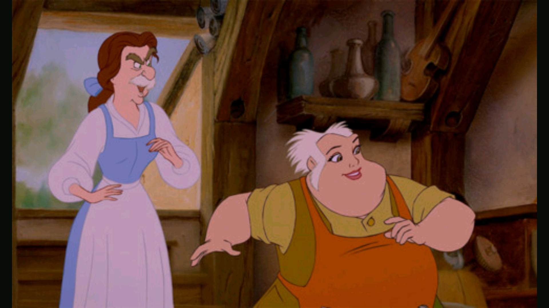 Maurice and Belle Swap Results in an Epic Mustache