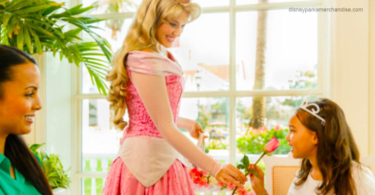 Having tea with Princess Aurora
