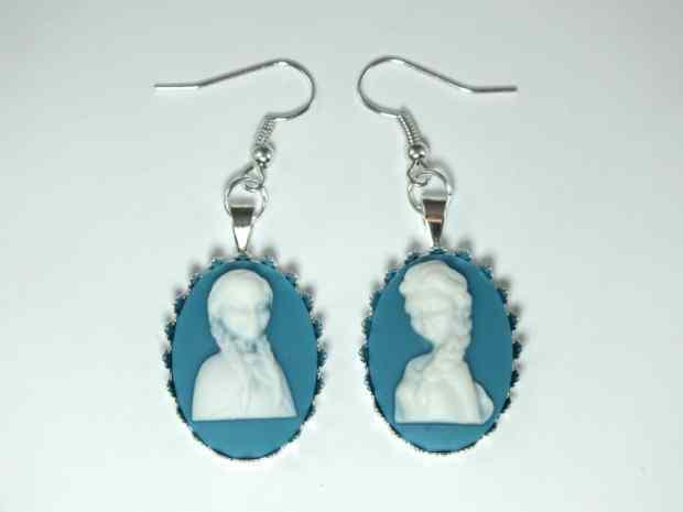 Elsa and Anna Cameo Earrings
