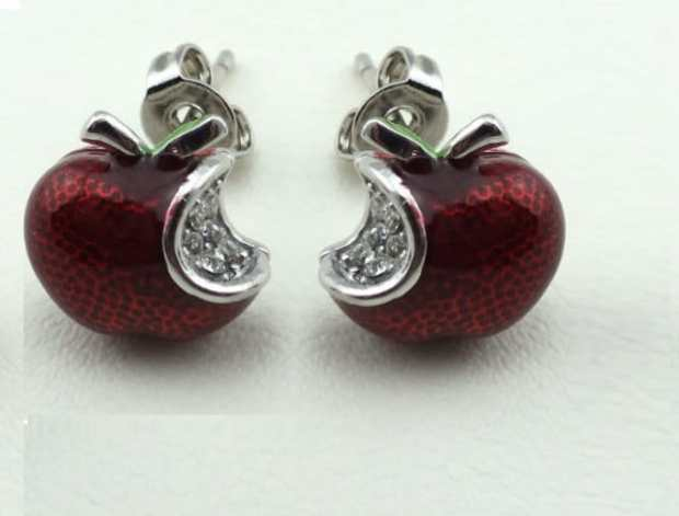 Snow White Apple Stud Earrings