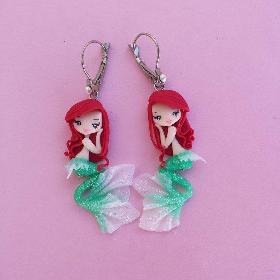 Ariel Fimo Earrings