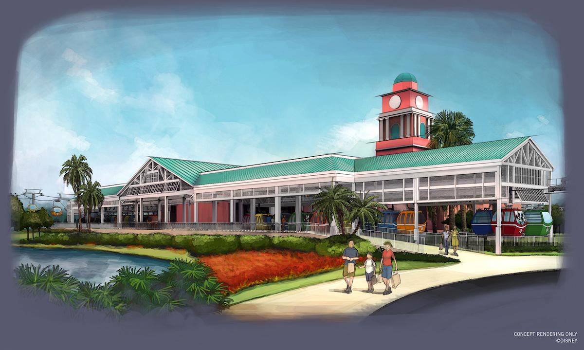 The Disney's Caribbeanbeach resort station