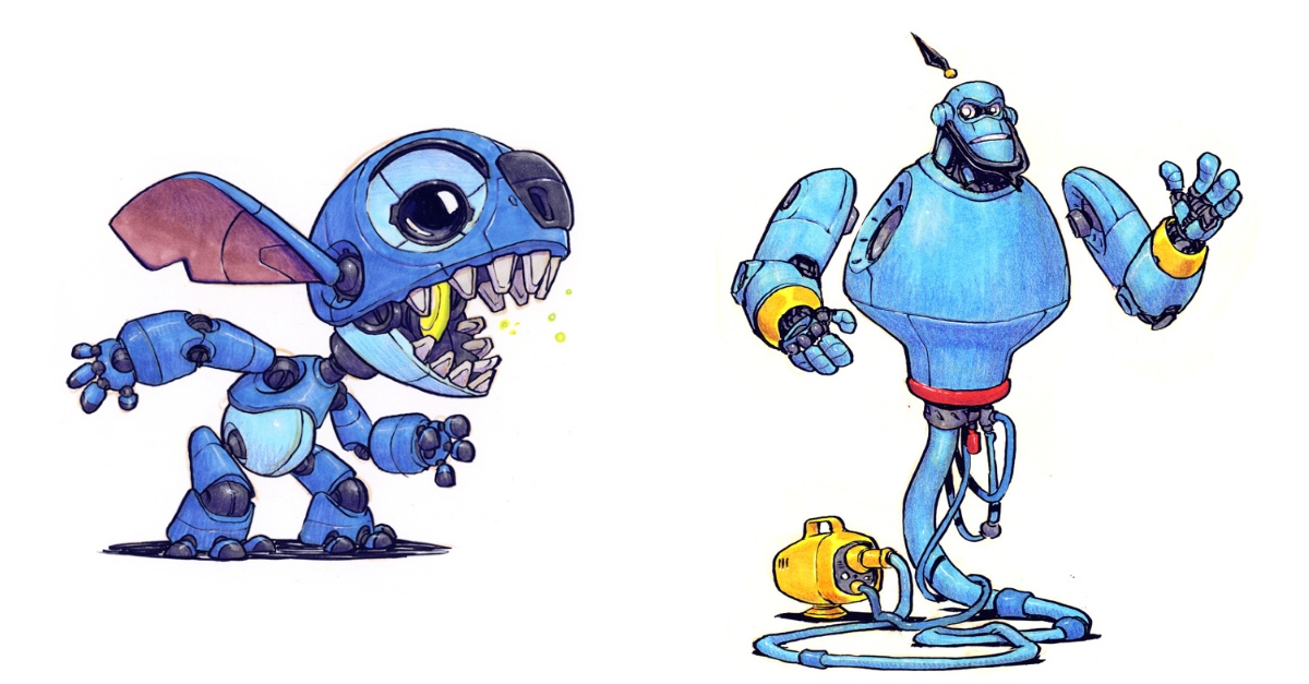 these famous disney characters as robots will make your day nerdism