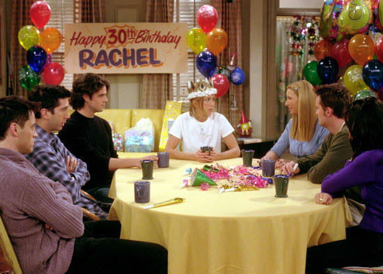 The fact that Rachel was the last one to turn 30