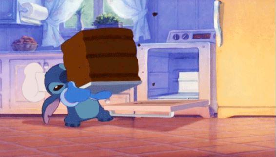 Stitch's exact oven-sized cake