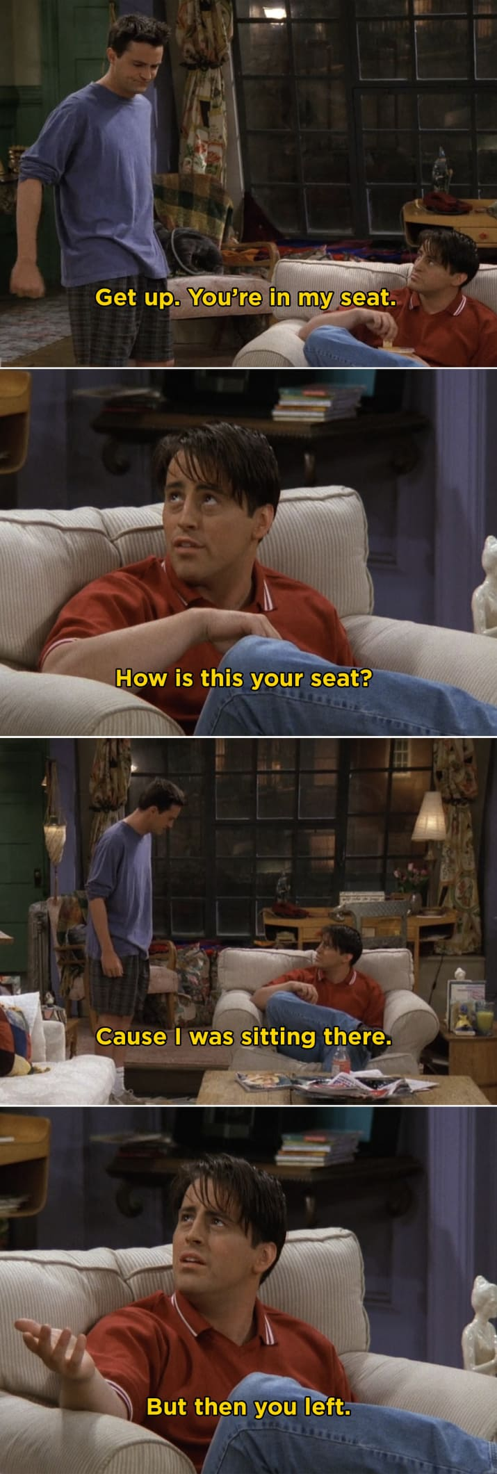 When Joey and Chandler made such a big deal