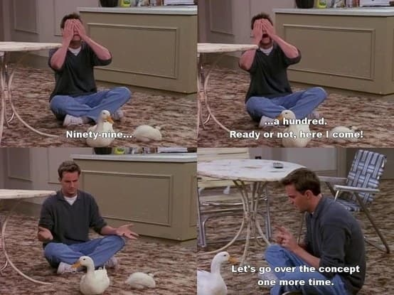 The fact that Chandler and Joey