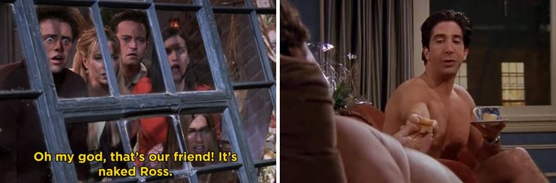 When the only way for Ross to get his apartment