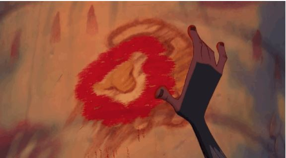 And Rafiki's model finger painting