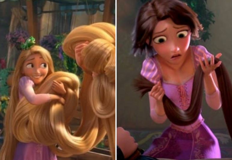 Why Does Rapunzel's Hair Change Color Upon Being Cut