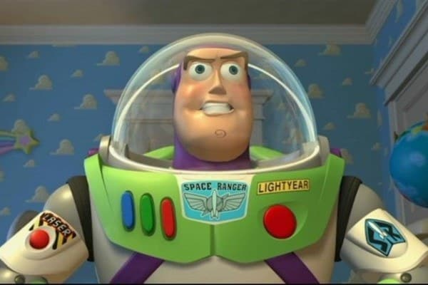 The Fact That Buzz Acts Like a Toy
