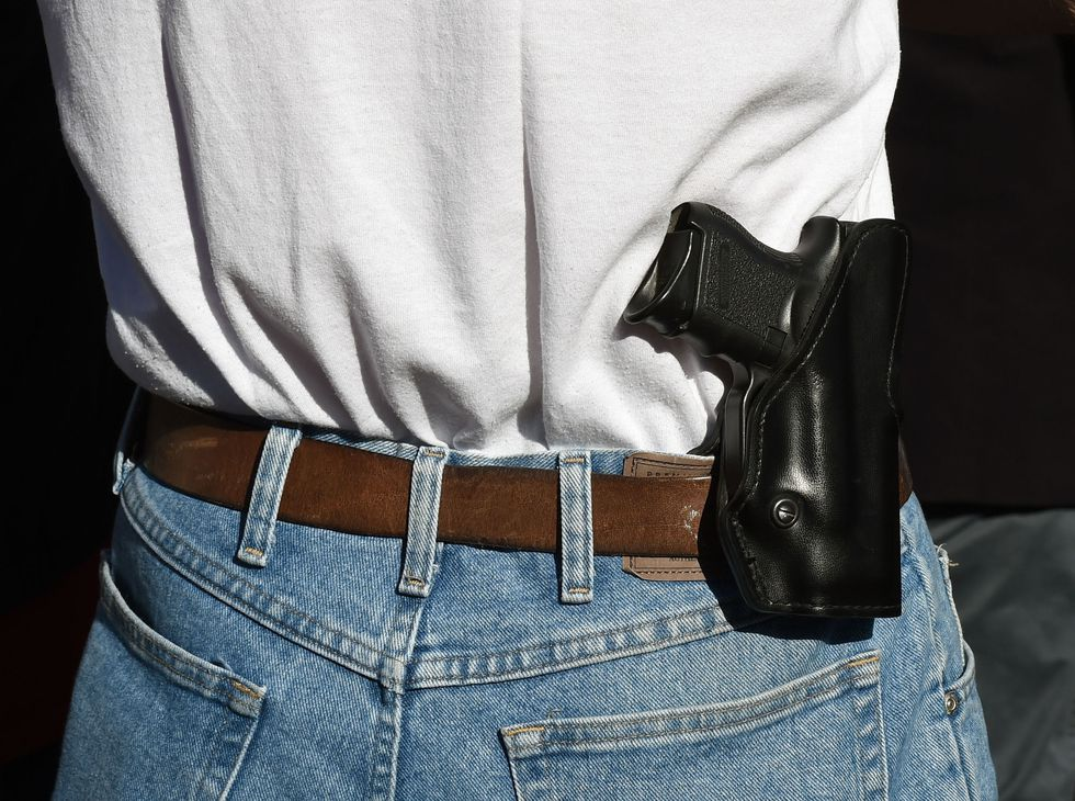 You can't carry a firearm