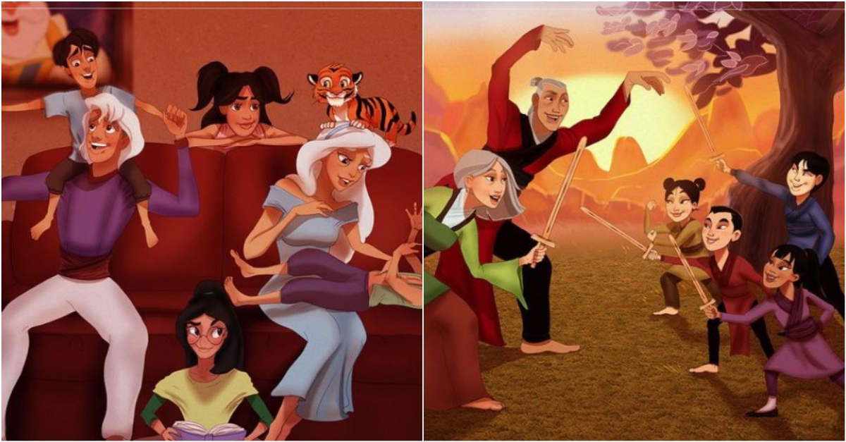 artist re imagined how famous disney characters would look like as