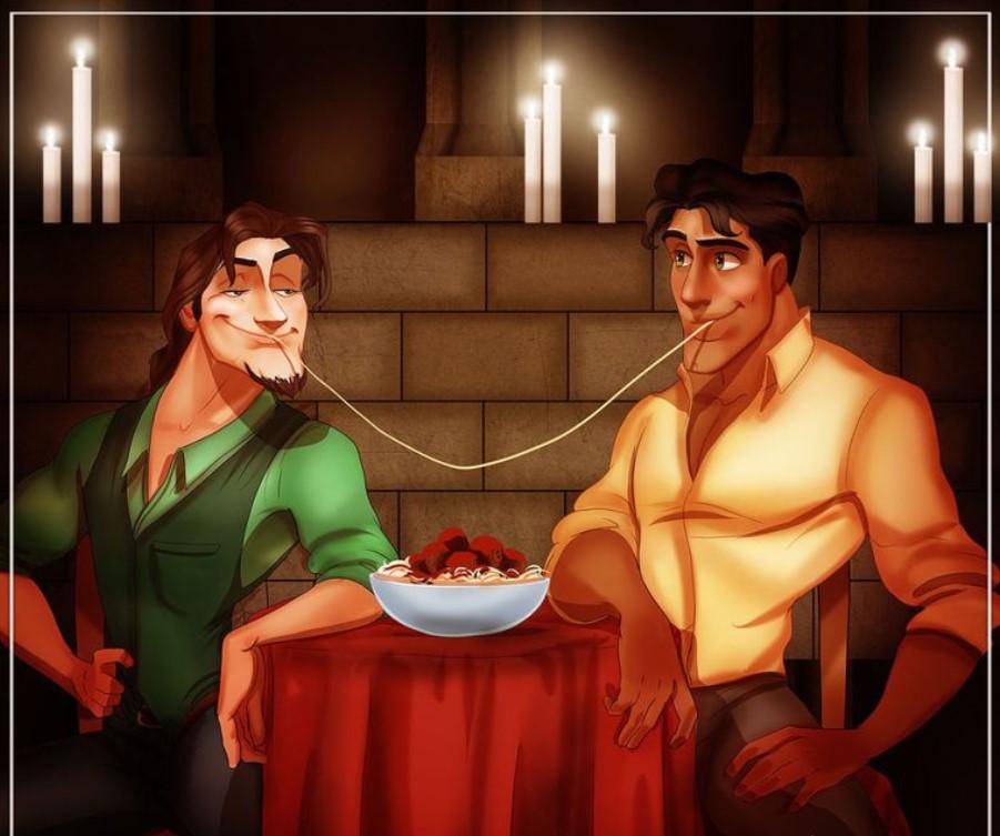 Flynn Rider and Naveen