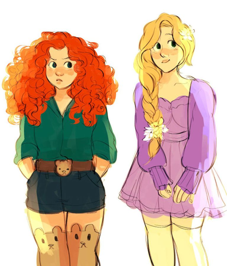Merida and Rapunzel from Brave and Tangled