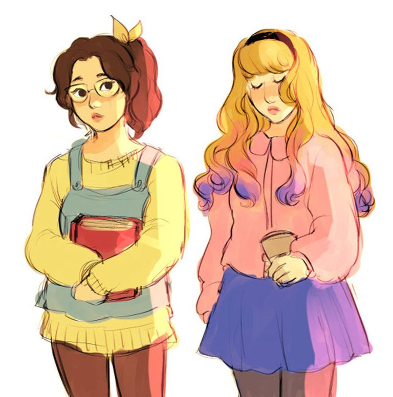 Belle and Aurora from Beauty and the Beast and Sleeping Beauty