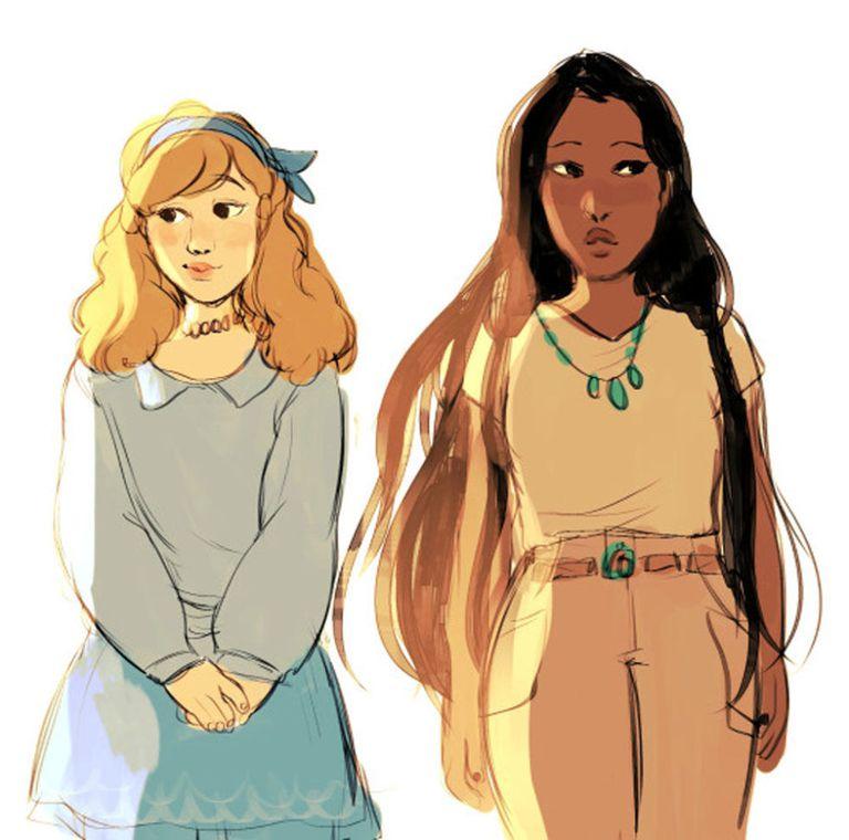 Cinderella and Pocahontas