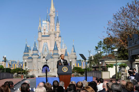 Can't hold a demonstration or a speech in a Disney Park