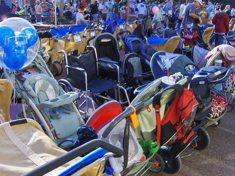 You can't bring in a stroller larger than36 inches by 52 inches