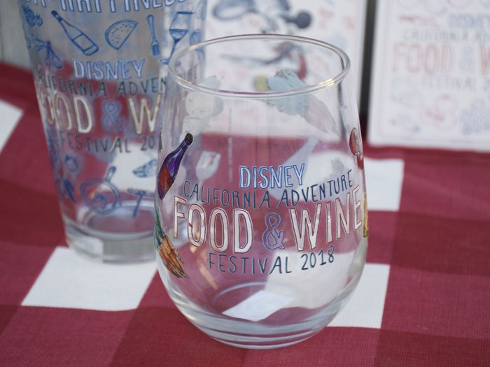 All The Glassware Has Specially Been Embossed With Disney Food & Wine Festival Etching