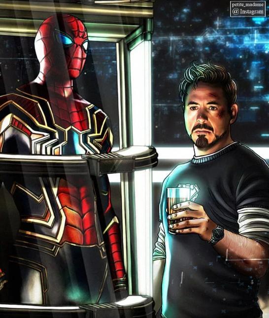 I can literally feel the tears in Tony Stark eyes